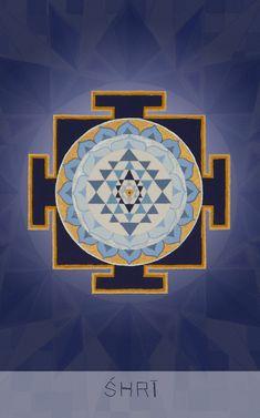 "श्री Resplendent Creative Cosmology ""I receive the full blossoming of love and devotion"" Mantra: Mā Shri Yantra, Kali Goddess, Sacred Geometry Art, Mandala Drawing, Indian Gods, Tantra, Gods And Goddesses, Art Sketches, Illustration Art"