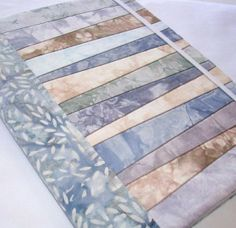 Hand Dyed Fabric Journal Cover GRANITE by RubyMountainDyeWorks, $24.95