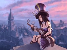 great fan art of one of my favorite champions in League Of Legends, Caitlyn:)