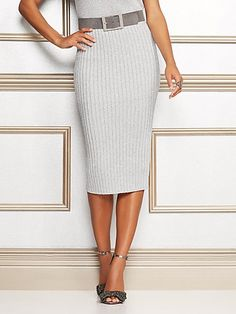 c7c0be9b810 Eva Mendes Collection - Jacqui Metallic Sweater Skirt - New York   Company Eva  Mendes Collection