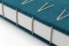 Large Coptic Bound Journal in Teal Linen by paperiaarre on Etsy, Handmade Notebook, Diy Notebook, Handmade Journals, Handmade Books, Book Journal, Book Binding, Book Making, Altered Books, Book Crafts