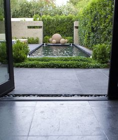 Contemporary Home concrete poured stepping stones patio Design Ideas, Pictures, Remodel and Decor