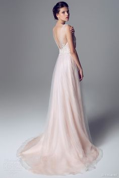 Blumarine Bridal 2014 Wedding Dresses Pale pink gown with gathered sleeves
