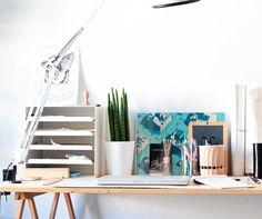 Our workspace www. Design Crafts, Milk Glass, Loft, Bed, Furniture, Home Decor, Decoration Home, Stream Bed, Room Decor