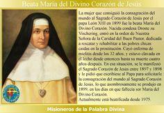 MISIONEROS DE LA PALABRA DIVINA: SANTORAL - BEATA MARÍA DEL DIVINO CORAZÓN DE JESÚS...