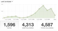 analytics/stats from first 24 hours of When Women Refuse tumblr