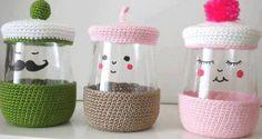 Küçük kavanozlarınız için dekoratif örgüler