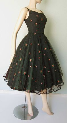 1950s Jonny Herbert Original  Embroidered by KittyGirlVintage, $240.00