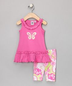 Take a look at this Pink Butterfly Tunic & Shorts - Infant, Toddler & Girls  by Girlfriends by Anita G. on #zulily today!