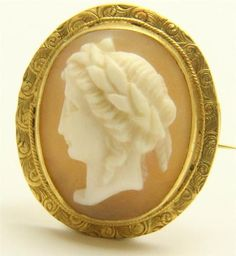 A Shell Cameo Broach of A Lady Circa 1800'S Part of the treasure found at cave in rock in Mississippi Jack by L.A. Meyer.