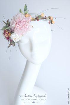 Свадебные украшения ручной работы. Ярмарка Мастеров - ручная работа. Купить Венок на голову для невесты. Свадьба осенью.Цветы из шелка.. Handmade.