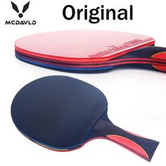 Mejor calidad de carbono bate tabla raqueta de tenis con goma pingpong paddle mango corto ping-pong rackt mango largo ofensivo