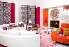 Chic Living Room -  Jonathan Adler :: Interior Design