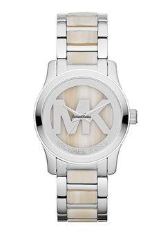 Michael Kors Ladies´ Watch $297 #MichaelKors #watch #watches #chronograph white bracelet