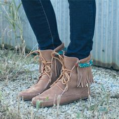 Perfect attachments for your Minnetonka boots!