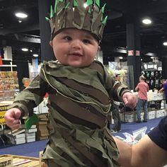 Baby Groot Costume at Boston Comic Con