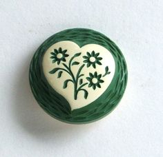Vintage 1930s Buffed Celluloid Button