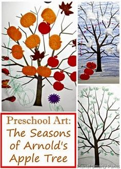 Preschool Open Ended Art for Seasons Theme #preschoolart #readingactivities