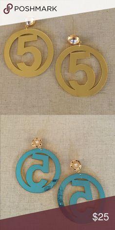 Fun 5  earrings in gold plastic Beautiful gold plastic earrings nr 5 craft Jewelry Rings