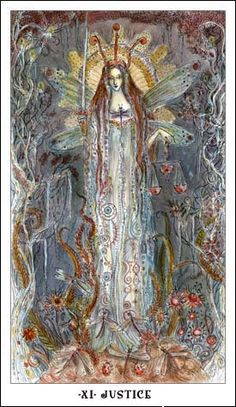Paulina Tarot by Paulina Cassidy - Justice. major arcana. tarot cards. divination. fortune telling. oracle.