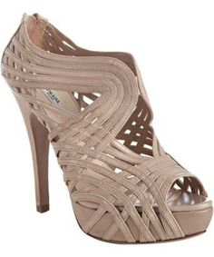 8fbcc6db997 Prada Powder Pink Strappy Leather Platform Sandals in Beige (powder)