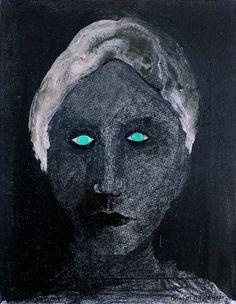 La femme aux yeux verts Eclectic Modern, Mario, Dark Art, Mixed Media Art, Photo Book, Art Lessons, Street Art, Original Paintings, Art Gallery