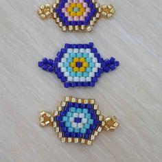#miyuki#miyukiのガソリン #miyukiboncuk #bileklik #kolye #nazarboncuk Bead Loom Bracelets, Bracelet Crafts, Woven Bracelets, Loom Patterns, Beading Patterns, Bead Jewellery, Beaded Jewelry, Handmade Jewelry Tutorials, Seed Bead Earrings