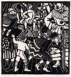 Prints & Graphics - Althea Mary (Thea) Proctor - Page 2 - Australian Art Auction Records Australian Painting, Australian Artists, Aboriginal Dot Painting, Art Deco Illustration, Illustrations, Ink Pen Drawings, European Paintings, Chiaroscuro, French Art