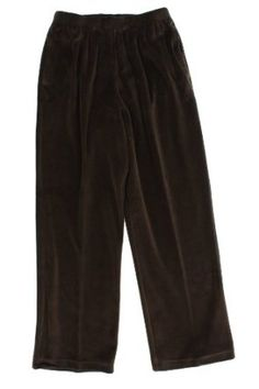 Alfred Dunner Party Animal Elastic Waist Velour Pants Espresso 16 S Alfred Dunner. $27.99