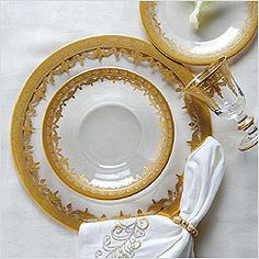 Vetro Gold Dinnerware by Arte Italica
