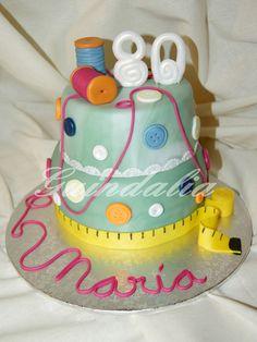 Una tarta costurera.