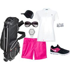 Ready for golf lessons, created by emjfashion  www.emjfashion.com