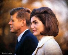 On the White House lawn, with JFK, just two weeks before the assassination in November 1963.   It was one of her first public appearances since the death of her premature son Patrick in August 1963.