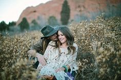 Gorgeous bohemian couple in the high dessert!