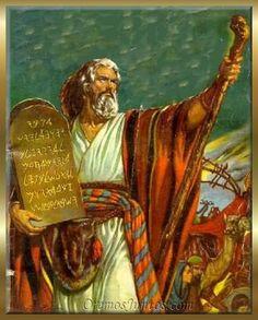 imágenes antiguo testamento - los diez mandamientos