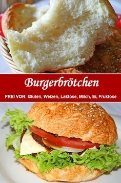 Fluffy – bun / burger bun – Famous Last Words Party Sandwiches, Sandwiches For Lunch, Gluten Free Recipes, Vegetarian Recipes, Healthy Recipes, Burger Recipes, Appetizer Recipes, Bun Burger, Sandwich Vegan
