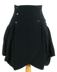 Alexander McQueen Resort 2010 Black Draped Skirt