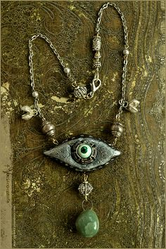 amulet eyenecklace - handmade necklace by Vocisconnesse. Available. vocisconnesse.tumblr.com