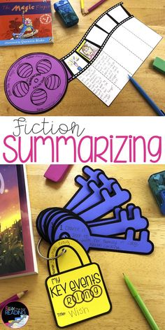 Fiction Reading Crafts Set Sequencing and Summarizing Fiction Activities Reading Lessons, Reading Strategies, Reading Skills, Teaching Reading, Reading Comprehension, Guided Reading, Summarizing Activities, Retelling Activities, Writing Anchor Charts