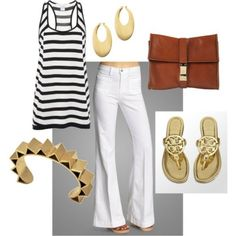 Love this outfit. The Tory Burch sandals have been a staple in my wardrobe for about 3 years! Love them!)