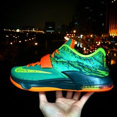 wholesale dealer a9b56 3a9b4 Nike KD VII EP Weatherman Green Orange Kevin Durant Mens Basketball Shoes  Air