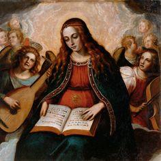Juan Sariñena The Virgin of Hope with Angels
