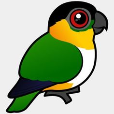 Cute Birdorable Black-headed Parrot, also known as Black-capped Parrot or Black-headed Caique, in Parrots & Parakeets. The Black-headed Parrot is closely Cute Birds, Birds Of Prey, Parakeet, Baby Animals, Parrot, Cartoons, Drawings, Anime, Fictional Characters
