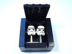 BLACK Cufflinks Gift / Display Box. Handmade with LEGO(r) bricks - cufflinks sold separately