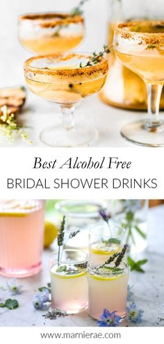 Make your bridal shower an inclusive event by offering one (or a few!) of these alcohol-free bridal shower drinks. Theses beautiful soft cocktails are sure to delight your guests. Easy Mocktail Recipes, Summer Drink Recipes, Summer Drinks, Summer Fun, Best Non Alcoholic Drinks, Party Drinks Alcohol, Best Mocktails, Best Alcohol, Alcohol Free