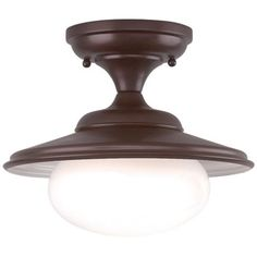 "Independence Collection 11"" Wide Old Bronze Ceiling Light -"