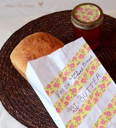 Bless This Mess: Washi Tape Canning Lids and Paper Bags - handmade gifts