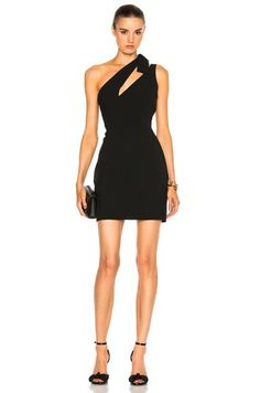 One Shoulder Mini Dress in Black
