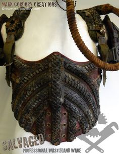 Post Apocalypse armour - corset for LARP by Mark Cordory Creations. www.markcordory.com