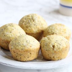 Healthy Lemon Chia Seed Muffins from She Well